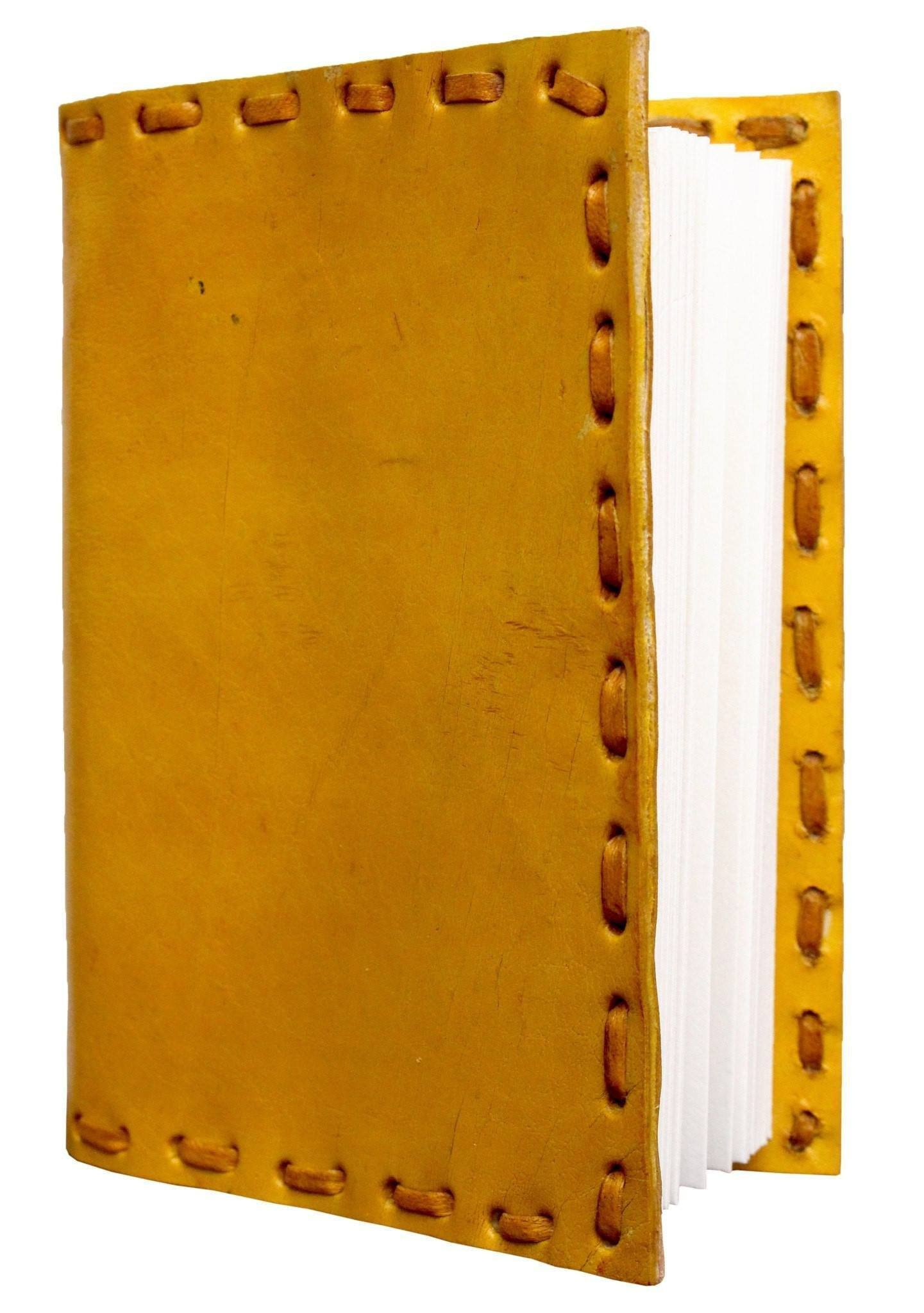 ININDIA Handmade 100% Pure Leather Diary For Office Home Daily Use Without C Lock (All Colors)