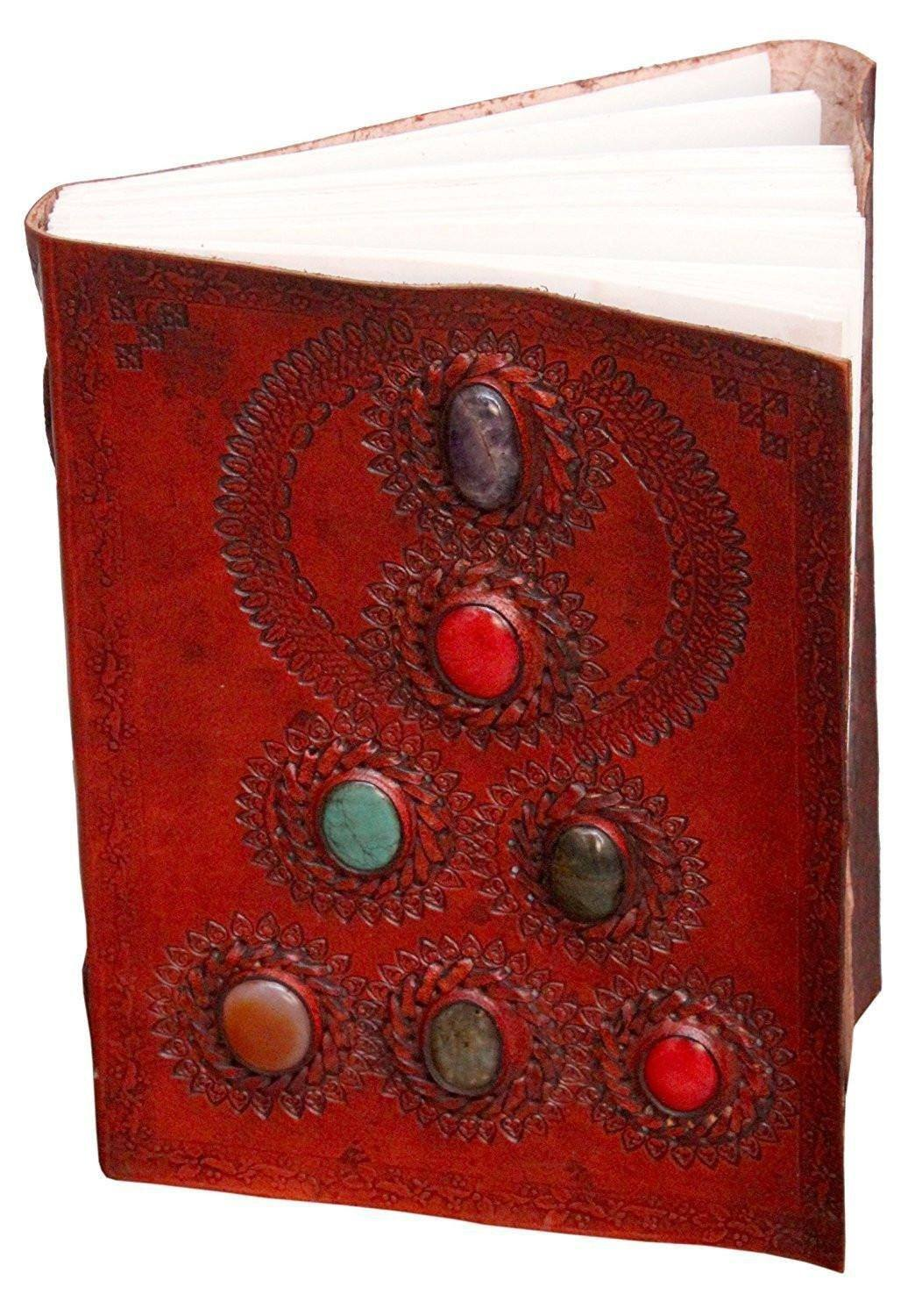 ININDIA Pure Genuine Real Vintage Hunter Leather Handmadepaper Notebook Diary