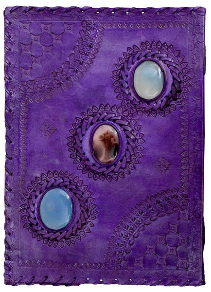 ININDIA Pure Genuine Real Vintage Hunter Leather Handmadepaper Notebook Diary For Office Home To Write Poem Daily Update - Size Of (H) 10*(L) 7