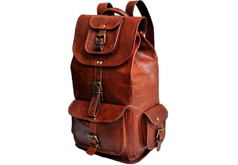 "Leather - IN-INDIA  Fascinating Large Bag Pack Travel Bag Duffel - 16Inches (Laptops Upto 15.6"")"