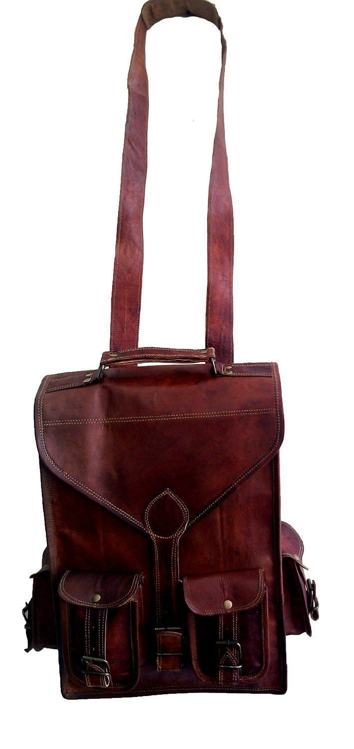 Leather - IN-INDIA Hunter Leather Messenger/Laptop/Regular Satchel Bag - 11.6 Inches ( Laptop)