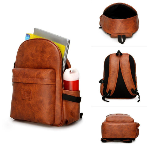Leather - IN INDIA Leather Finish PU Regular Use Heavy Duty 21 LTS Backpack- Fits 15.6 Laptop Easily