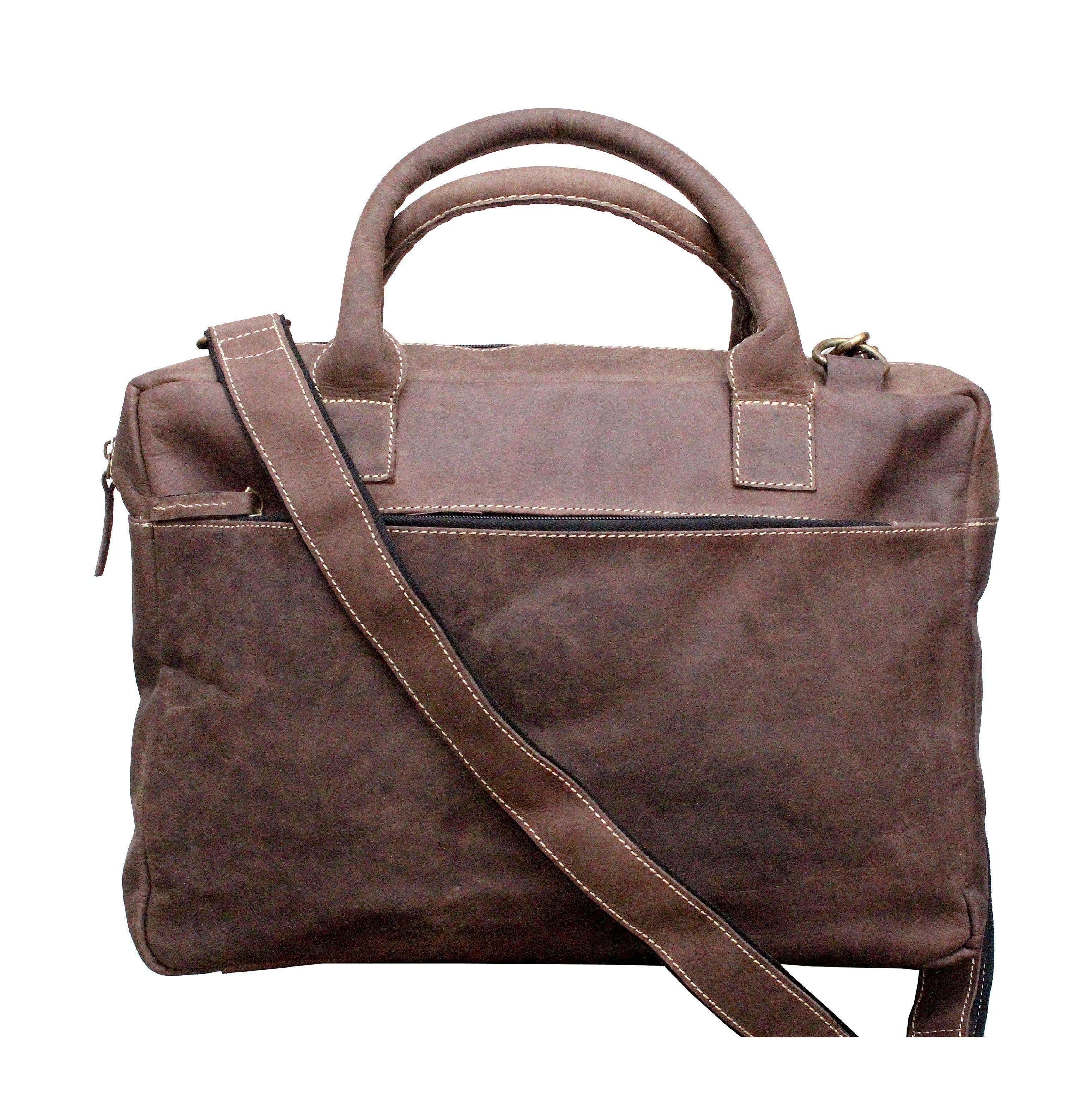 Leather - IN-INDIA Light Weight Dynamic Buffalo Leather Crafted Professional Messenger Office Bag - Fits Laptop Upto 15.6 Inches