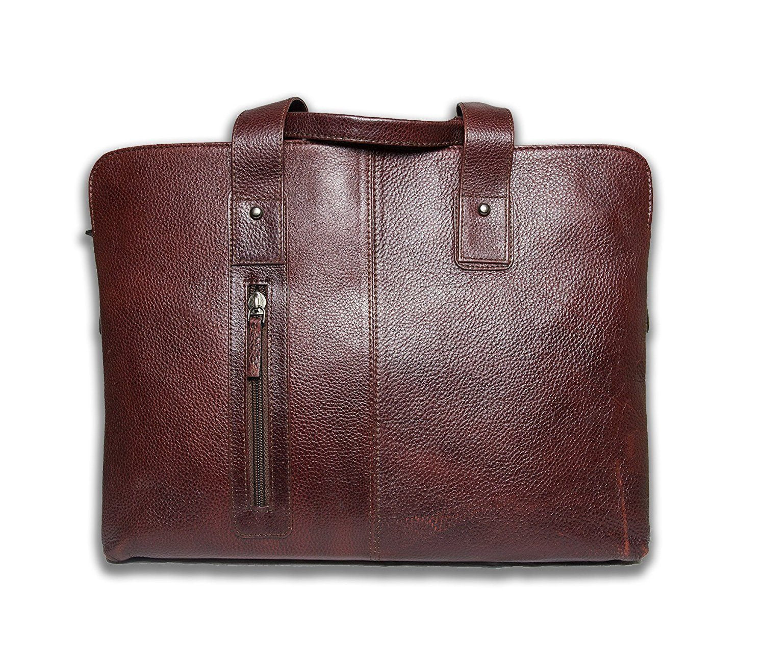 Leather - IN-INDIA Office Special Pure Leather Briefcase Office Stylish Bag - Hot Selling 2017 - Fits Laptop Upto 15.6 Inches