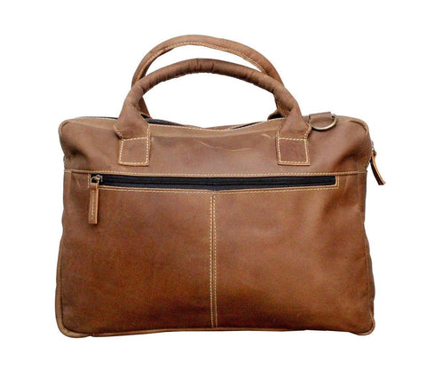 Leather - IN INDIA Rustic Shopping Styled Handsome Buffalo Leather Crafted Handbag Regular Use Carry Bag -Fits Laptop Upto 15.6 Inches