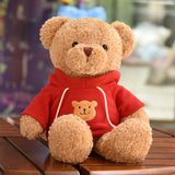 gros ours peluche rouge