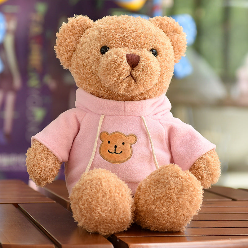 gros ours peluche rose
