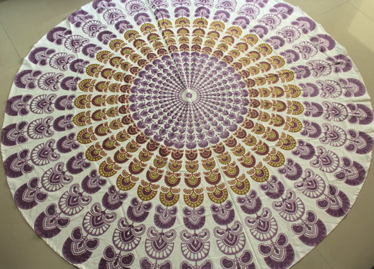 Cotton Indian Mandala Tapestry Hippie Bohemian Round Tablecloth