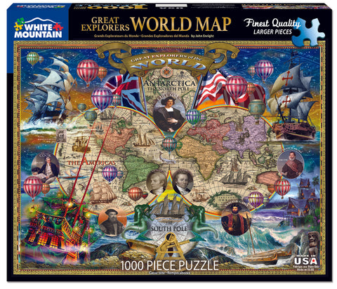 Great Explorers World Map Jigsaw Puzzle