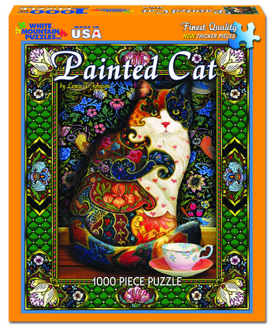 Painted Cat Jigsaw Puzzle