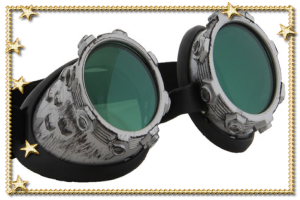 CyberSteam Goggles - Silver/Green