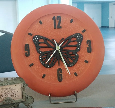 MR Clock #9 | Butterfly