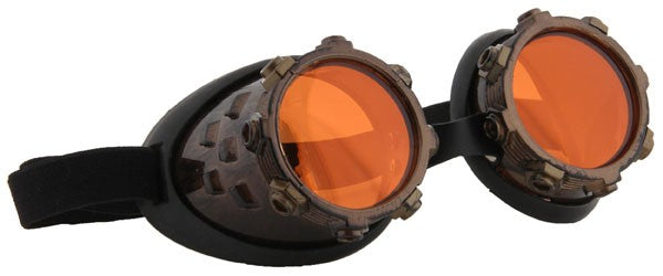CyberSteam Goggles - Gold/Orange