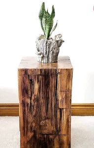 Reclaimed 100 year old Ontario Barn Beam Cube