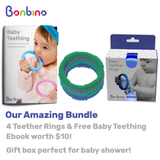 Boy's Baby Teether Rings with Ebook