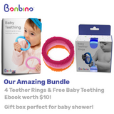Girl's Baby Teether Rings with Ebook