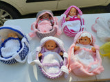 Baby Dolls With Basket/Cradle
