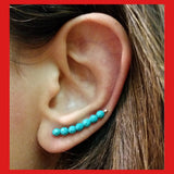 Earrings; Turquoise Ear Climber