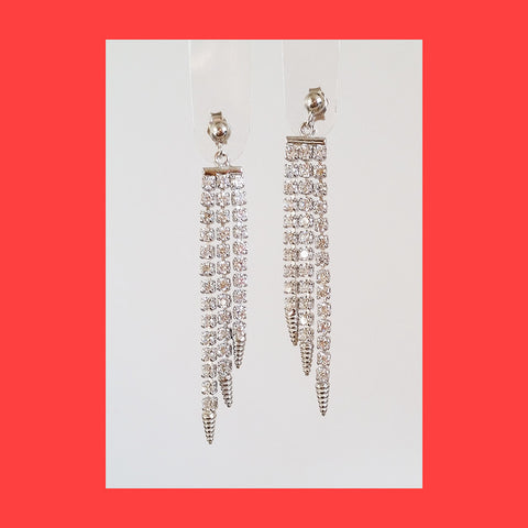 Earrings; Medium Tennis drop
