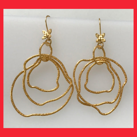 Gold-plated Irregular Circles Earrings