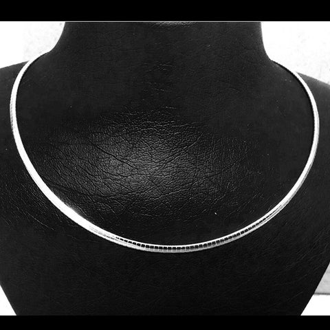 "Sterling silver chains; 3mm  ""All-Round"" Omega Chain"