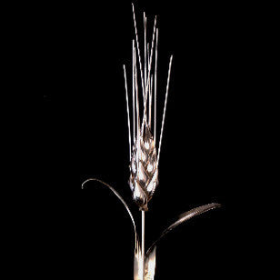 Solid Silver Wheat Flower