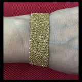 Gold-plated Silver Italian Mesh Chain Bracelet