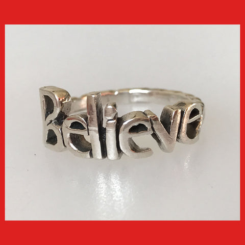 "Sterling Silver ""Believe"" Ring"