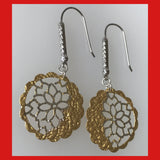 Gold-plated Filigree Earrings
