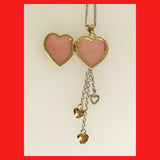 Gold-plated Heart Locket with 3 Dangle Hearts