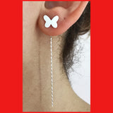 Sterling silver Butterfly Ear Threader