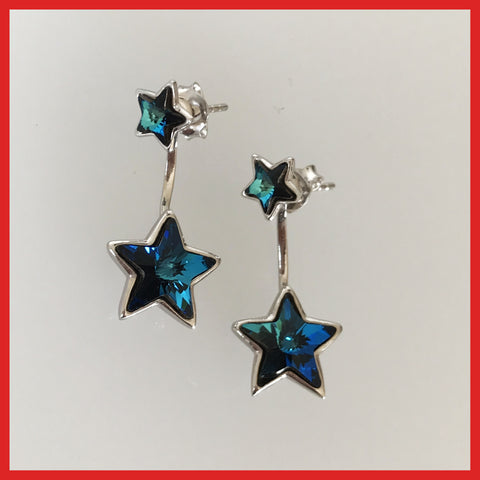 Swarovski Star Double Sided Earrings