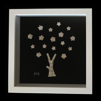 Silver tree with Blossom in Frame(1)