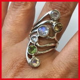Sterling Silver Ring and Different Gem Stones