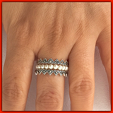 Sterling Silver Marcasite Stack Ring