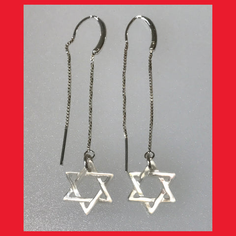 Mother of Pearl Star of David Earrings