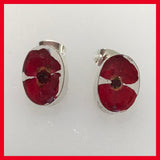Real Poppy Earrings Studs