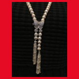 Long Freshwater Pearl Necklace with Moveable Clasp
