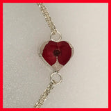 Heart Shaped Bracelet with Real Flowers
