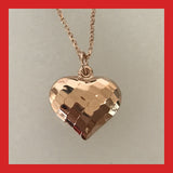Sterling Silver Faceted Heart Pendant