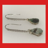 Ruby Zoisite Drop Earrings