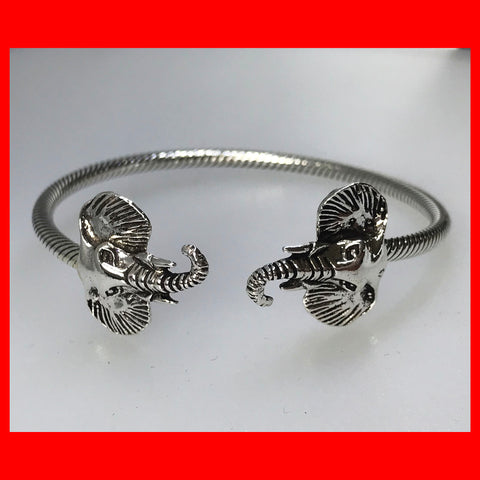 Twistable Sterling Silver Elephant Bangle