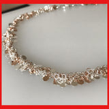 Rose Gold and Sterling Silver Busy Chain Necklace