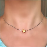 Gold-plated Star Necklace