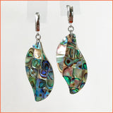 Wavy Drop Abalone Earrings