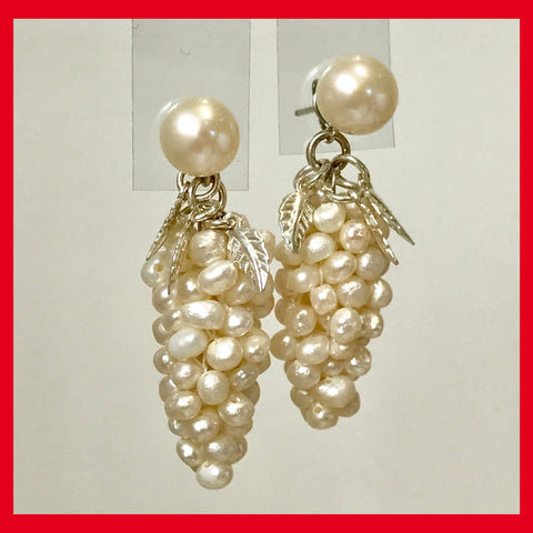 of pearl and pearls cluster golden hued seed gallery earrings tesla