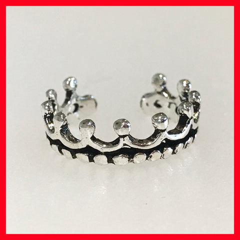 Crown Toe Ring, Fingertip Ring