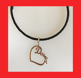 Necklaces; Heart Shaped Nameplate
