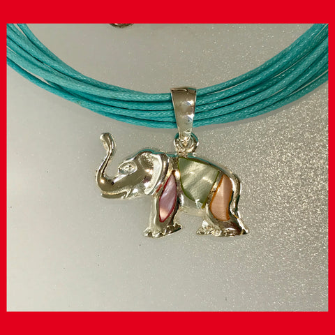 Elephant Pendant with Mother of Pearl