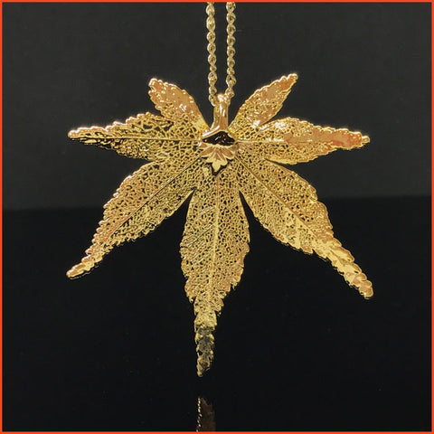 Goldplated Leaf (Japanese Maple) Necklace